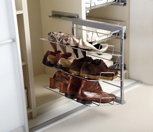 Каскадные обувницы для шкафа-купе
