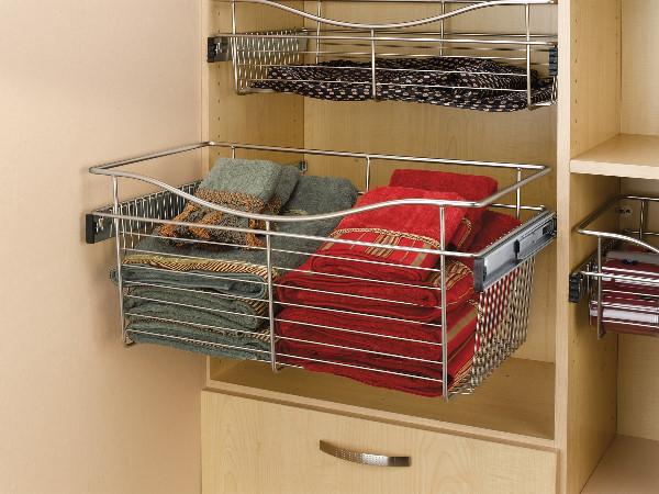 Сетчатые корзины для шкафа-купе